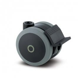Linea - 5925XSI075L51-10 DOM22 - Zestawy obrotowe z hamulcem koła 75 mm - Elektroprzewodzące  -
