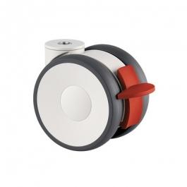 Linea - 5945UAP100P30-10 LH RAL9002 - Zestawy obrotowe z hamulcem koła 100 mm -