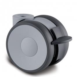 Linea - 5925XSP100L51-11 RAL7001 - Zestawy obrotowe z hamulcem koła 100 mm - Elektroprzewodzące  -