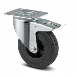 Alpha - 3477PVR080P62 (8) - Swivel Casters with total lock 3.15 inch -