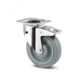 347BUFP200P63 180° - Swivel Casters with directional reverse 7.87 inch -