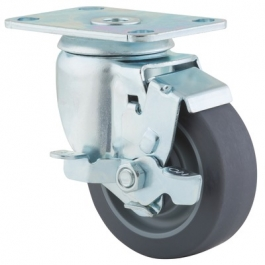 Agila - 267FPJO3.5x1.25P52-95x70 - Swivel Castors with wheel brake 89 mm -