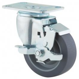 Agila - 267FPJP4x1.25P52-95x70 - Swivel Casters with wheel brake 4.00 inch -
