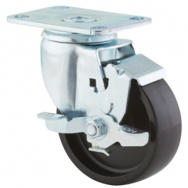 Agila - 267FPOO4x1.25P52-95x70 - Swivel Casters with wheel brake 4.00 inch -