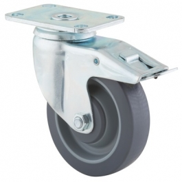 Agila - 2677PJP4x1.25P52-95x70 - Swivel Casters with total lock 4.00 inch -