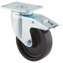 Agila - 2677POO4x1.25P52-95x70 - Swivel Castors with total lock 102 mm -