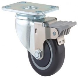 Agila - 2675PAP3x1.25P52-95x70 - Swivel Casters with wheel brake 3.00 inch -