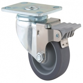 Agila - 2675PJO3.5x1.25P52-95x70 - Swivel Casters with wheel brake 3.50 inch -