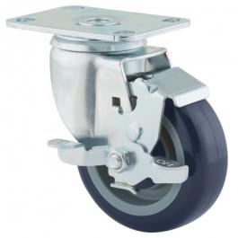 Agila - 267FPAP4x1.25P52-95x70 - Swivel Castors with wheel brake 102 mm -