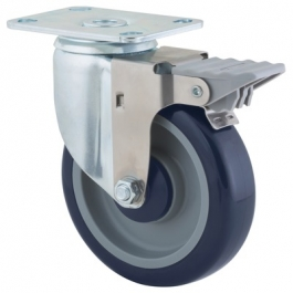 Agila - 2675PAP4x1.25P52-95x70 - Swivel Castors with wheel brake 102 mm -