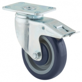 Agila - 2677PAP4x1.25P52-95x70 - Swivel Casters with total lock 4.00 inch -