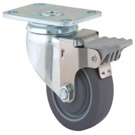 Agila - 2675PJP3.5x1.25P52-95x70 - Swivel Casters with wheel brake 3.50 inch -