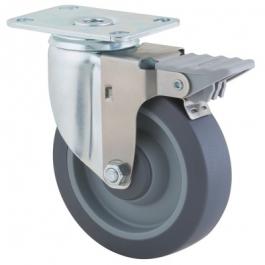 Agila - 2675PJP5x1.25P52-95x70 - Swivel Castors with wheel brake 127 mm -