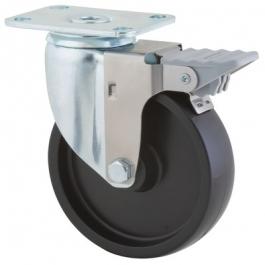 Agila - 2675POO5x1.25P52-95x70 - Swivel Casters with wheel brake 5.00 inch -