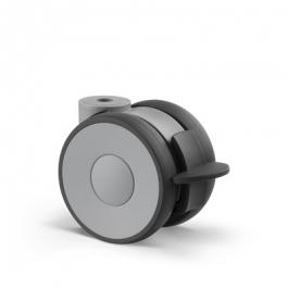 Linea - 5945UAP075P30-10 LH RAL7001 hamulec szary RAL 7015 - Zestawy obrotowe z hamulcem koła 75 mm -