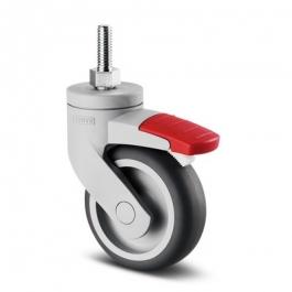 Levina - 5225PJO075S70-12.4x25 - Swivel Casters with wheel brake 2.95 inch -