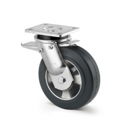 Kappa - 9652IEP160P63 - Swivel Casters with total lock 6.30 inch -
