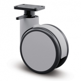 Forma - 694HUFP150P33 Q1-L30 grey - Swivel Casters with central, wheel, total lock 5.91 inch -