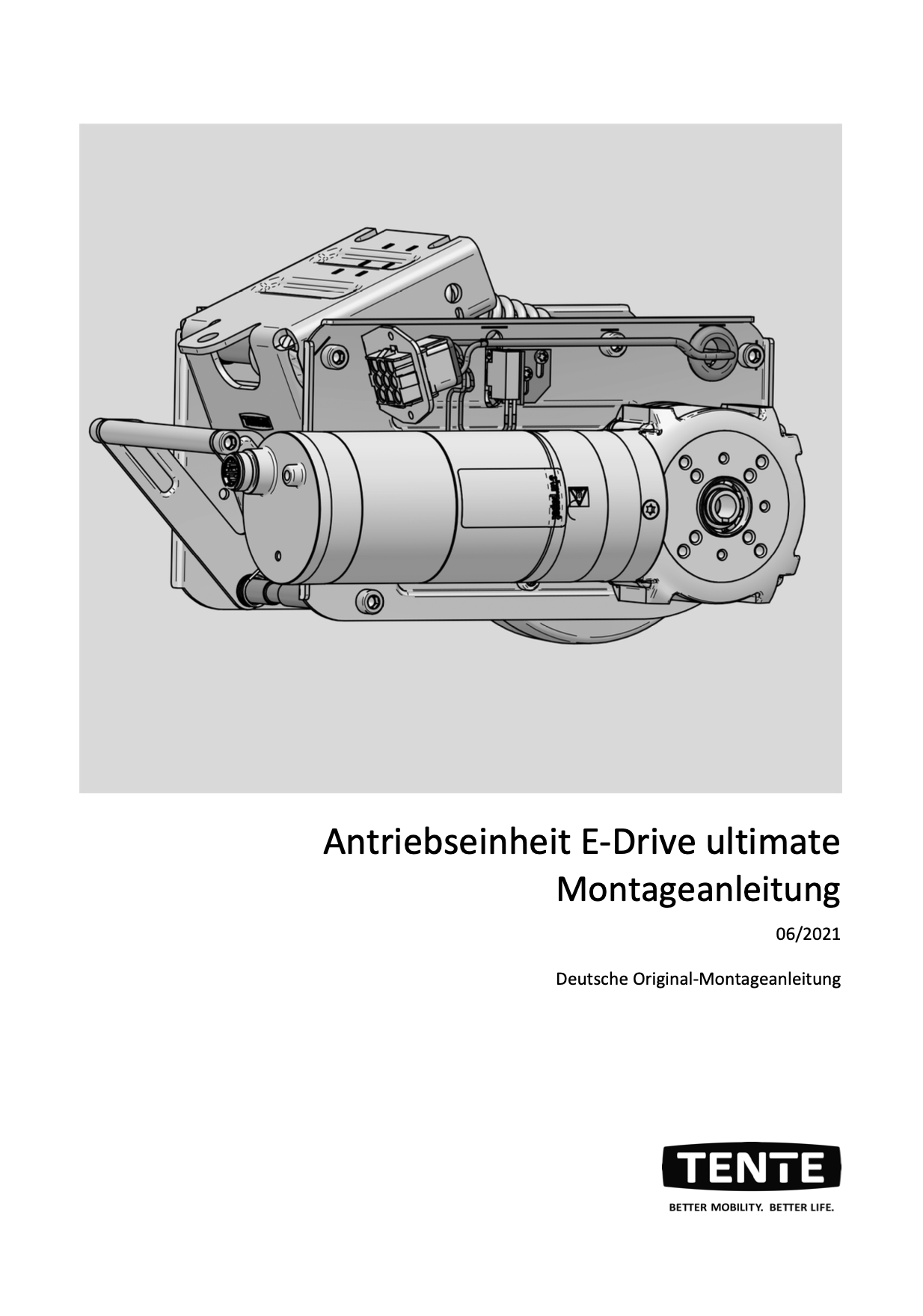 E-Drive ultimate drive unit Installation instructions