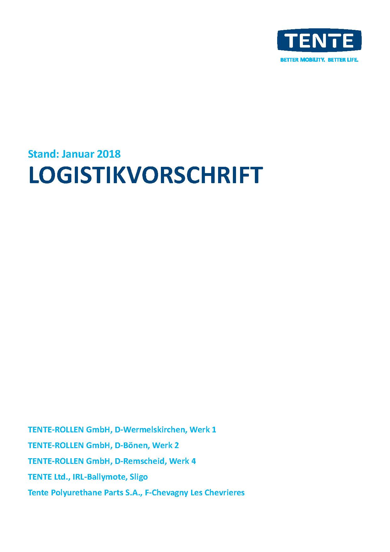 Logistikvorschrift